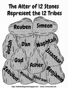 worksheet 12 stones from river jordan more joshua crosses bible joshua ...