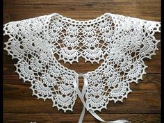 Crochet Collar Pattern, Col Crochet, Crochet Lace Collar, Crochet Cable, Bead Crochet Rope, Crochet Stitches Patterns, Doily Patterns, Lace Knitting, Crochet Doilies