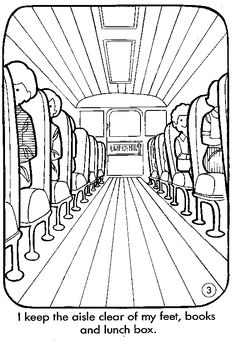 car safety coloring pages | safety american school bus council ...