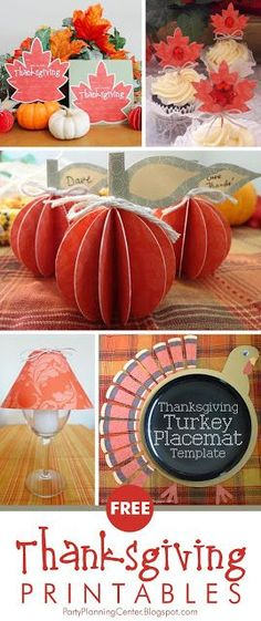 FREE Printable Thanksgiving Invitations, Cupcake Toppers, Place Cards, Placemats and Wineglass Lampshade | These elegant but fun coordinated FREE Thanksgiving printables come in shades of pumpkin and sage, and feature a subtle paisley design.   #ThanksgivingPrintables #ThanksgivingPlacecards #ThanksgivingTableSettings #Thanksgiving #FREEPrintables #CarlaChadwick Free Thanksgiving Printables, Thanksgiving Place Cards, Thanksgiving Invitation, Thanksgiving Crafts For Kids, Thanksgiving Table Settings, Thanksgiving Recipes, Halloween Costumes For Girls, Diy Halloween, Favorite Holiday