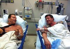 Schwarzenegger och Stallone fixar till axlarna