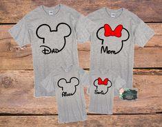 Disney Family Shirts/Disney Shirts/Family Shirts/Mickey, Minnie/Custom T-shirt/Matching Disney Family Shirts/Squad Shirts/Matching Shirts by KBButtonsAndBows on Etsy https://www.etsy.com/listing/596669097/disney-family-shirtsdisney-shirtsfamily