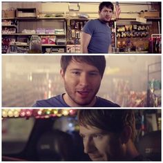 """Adam Young in his music video for """"Deer In the Headlights"""" AKA the best music video EVER MADE"""