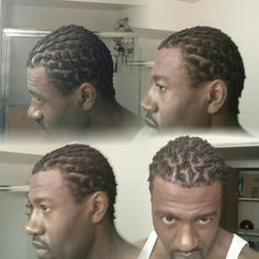 7-27-2014.  Day one of locs. ..