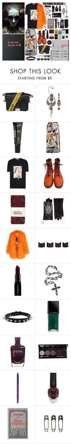 """""""something electric in my blood"""" by nothingisnormal ❤ liked on Polyvore featuring Off-White, Alexander McQueen, Christopher Kane, Dr. Martens, Vivienne Westwood, Odd Molly, Dolce&Gabbana, Maison Margiela, Luv Aj and Smashbox"""