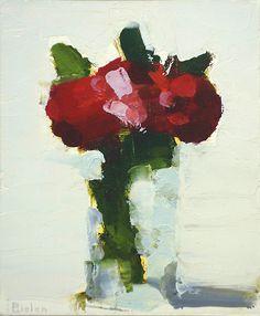 "Stanley Bielen, Crimson Cluster, 2013, oil on  panel, 7 x 5 3/4"" at William Baczek Fine Arts www.wbfinearts.com"