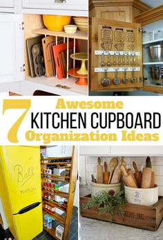 7 kitchen cupboard organizing ideas and hacks you have a small or cupboards organizer cabinet storage india organization Diy Kitchen Cupboards, Kitchen Cupboard Organization, Diy Kitchen Decor, Kitchen Storage, Kitchen Ideas, Cupboard Ideas, Cheap Kitchen, Kitchen Designs, Kitchen Tips