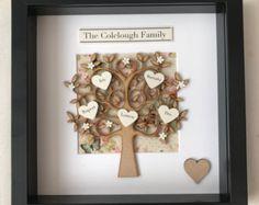 Personalised Family Tree Box Frame Keepsake by CreationalMoments