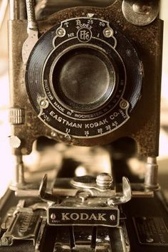 Vintage Kodak bellows folding camera - My mother had one similar to this.