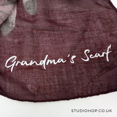 Are you wondering what you to gran for Christmas? How about a personalised scarf? It'll keep her warm and melt her heart at once.   See our full range of scarves at https://www.studiohop.co.uk/collections/personalised-scarves