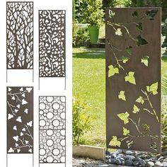 Panneau déco en métal à planter dans le sol. 4 modèles au choix. A voir ici :  http://fr.jardins-animes.com/panneau-decoratif-metal-06m-15m-p-2373.html