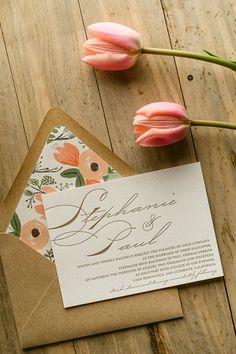 The rustic Stephanie wedding invitations suite from @jessikafeltz