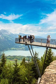 Interlaken, Switzerland - Observation Deck - The Harder Kulm Funicular observation deck in - Switzerland Destinations, Switzerland Tour, Switzerland Cities, Europe Destinations, Switzerland Interlaken, Switzerland Itinerary, Travel Europe, Places To Travel, Places To Go