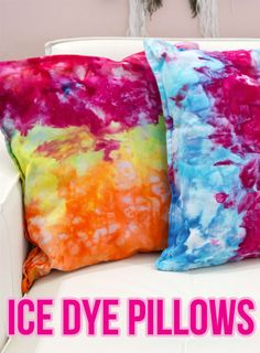 Add Some Color To Your Space With These Easy DIY Ice Dye Pillows