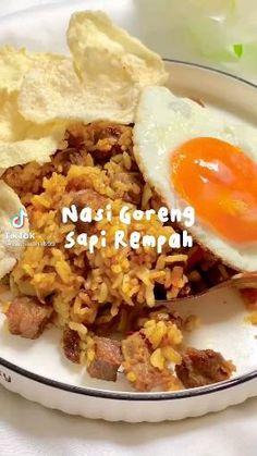 Cooking Videos, Cooking Recipes, Nasi Goreng, Dessert Recipes, Desserts, Healthy Snacks, Good Food, Food And Drink, Menu