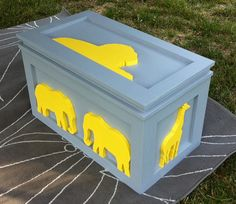 Wooden Animal Chest / Trunk with Safety Support by ProfessorFinley, $375.00