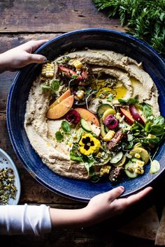 Farmers Market Hummus. | Half Baked Harvest | I really like my own recipe for hummus, but this presentation is gorgeous!