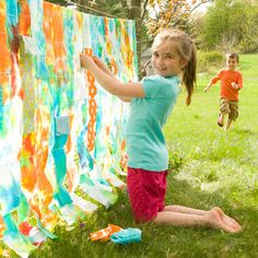 Summer Craft: Woven Tie-Dye Wall | Crafts | Spoonful
