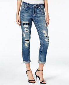Miss Me Ripped Cropped Boyfriend Jeans - Jeans - Women - Macy's