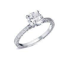 Bague de fiançailles ALEXINE Or Blanc et Diamants.