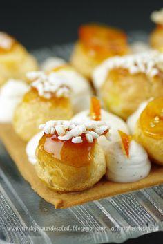 Saint Honoré à l'orange fleur - classic French pastry named for the patron saint of bakers
