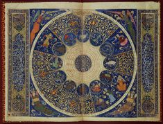 Here's Islamic interpretation of the star map from 1394. This is the birth chart Iskandar prince who was the grandson Tamurlande from Persia.