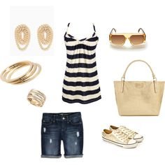 Golden Summer, created by lhutchins on Polyvore