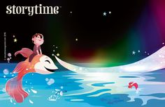 A magical tale with a moonbow! The Stars in the Sky in Storytime 25, with art by Carine Hinder (http://mipou.ultra-book.com) ~ STORYTIMEMAGAZINE.COM
