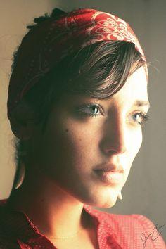 Self portrait.  © 2015 Jane Eyre Photography.  #selfportrait   #canon   #canonusers   #red   #darkhair   #Latina   #Cuban   #bandana   #moody   #photography   #janeeyredoyle   #janeeyrephotography   Jane Eyre Doyle - Google+