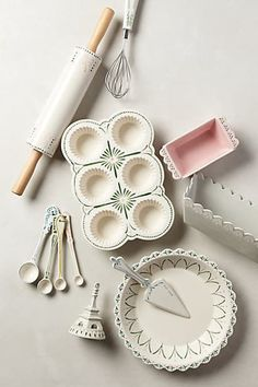 Maelle Baking set from Anthropologie. This is my new baking set for my kitchen. Baking Supplies, Kitchen Supplies, Kitchen Items, Kitchen Utensils, Kitchen Tools, Kitchen Gadgets, Kitchen Decor, Kitchen Design, Baking Tools