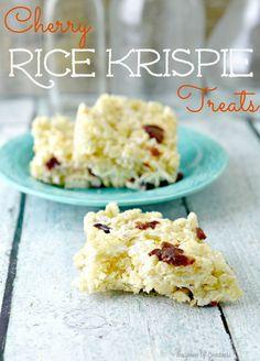 Cherry Rice Krispie Treats - Teaspoon Of Goodness