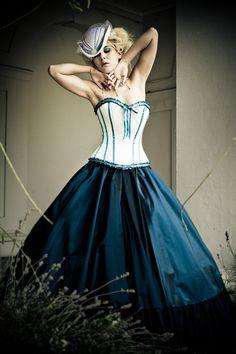 Alternative Wedding Dress - Steampunk, Victorian, Corset, Gothic