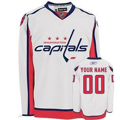 7a576e06972 Capitals Personalized Authentic White NHL Jersey (S-3XL) Washington  Capitals Jersey, Custom