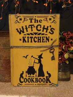 Witch's Kitchen Cookbook Witchcraft Spell by DaisyPatchPrimitives