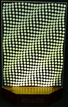 Optical illusions - interesting in themselves. LED light gives them more magic. #Raggio #LedLight #RaggioLamp #IneriorDesign #InteriorLighting