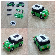 3D Car perler beads by Amanda Collison
