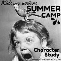 KIDS ARE WRITERS is going vintage. Character study writing prompt.