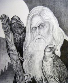 """11"""" X 14"""" Graphite Pencil Drawing, White Charcoal, and White Watercolor on Canson Acid Free Album Paper The Wizard is based on the DA member =skydancer-stock visit his site and see the wizard, love..."""