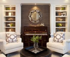 Living Room design ideas - traditional - living room - san diego - by Robeson Design Formal Living Rooms, Home Living Room, Living Room Designs, Living Room Furniture, Living Spaces, Small Living, Cozy Living, Fireplace Furniture, White Furniture