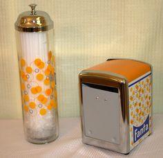 Vintage Retro Coca-Cola FANTA Napkin & Straw Dispenser Holder Diner Orange Soda | eBay