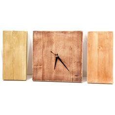 Modern Wall Clock, Autumn Wooden Natural, Minimal. €46,00, via Etsy.