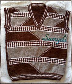 Kids Patterns, Baby Knitting Patterns, Knitting Designs, Knit Cowl, Knit Cardigan, Pull Bebe, Moda Emo, How To Start Knitting, Dress With Cardigan