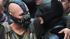 Batman and Bane; together in harmony.