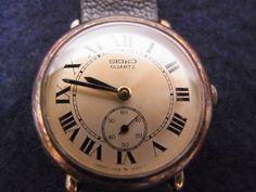 Seiko アンティークSEIKOセイコークウォーツジャンク品081605 時計 Watch Antique ¥1000yen 〆08月24日