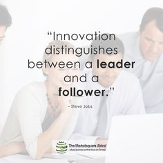 Innovation distinguishes between a leader and a follower Joint Venture, Distinguish Between, Steve Jobs, Innovation, Memes, Business, Building, Buildings, Construction