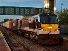 National railway Iarnród Éireann Diesel-Electric Locomotive 8209 in Ireland Electric Locomotive, Diesel, Ireland, World, Vehicles, Places, Irish, Railings, Trains