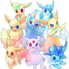 This picture of the eeveelutions is just so cute
