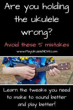 Are you holding the ukulele wrong? Avoid these 5 mistakesThe post Are you holding the ukulele wrong? Avoid these 5 mistakes appeared first on Ukulele Music Info. Ukulele Songs Beginner, Ukulele Chords Songs, Cool Ukulele, Ukulele Tabs, Guitar Songs, Hawaiian Ukulele Songs, Ukulele Fingerpicking, Acoustic Guitar, Music Lessons