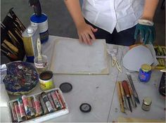 How to do transfer technique on Encaustic