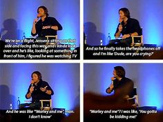 """Jared convention panel - Jared talks about traveling with Jensen Ackles """"Dude, are you crying?"""" - Supernatural"""